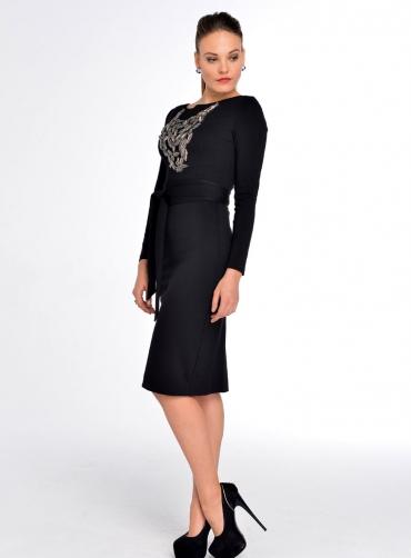 Платье черный джерси